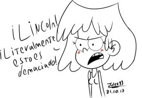 Lori reaction for lincoln's doing by Julex93