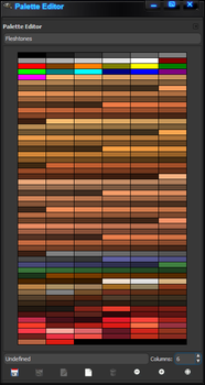 Gimp Fleshtone Color Palette by Geosammy
