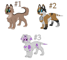 Canine adoptables - 5 points [3/3 OPEN] by Eevee33