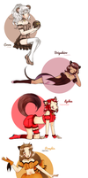 Tokyo Mew Mew OCs gifts by chiyako92