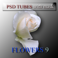 psd flower 9 tubes with mask by feniksas4