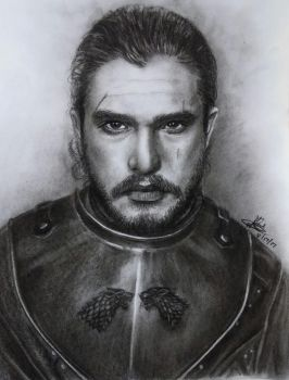 Jon Snow Sketch by rayjaurigue