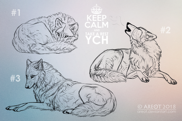 KEEP CALM and TAKE A REST | YCH | 1 DAY LEFT by areot