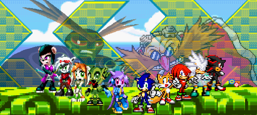 Art Trade- Sonic and Freedom Planet by ChaoticPrince7