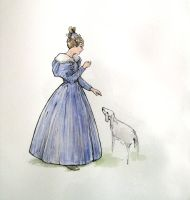 1830 Day Dress- design by lachwen