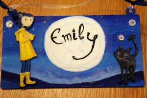 Coraline inspired name sign by Ideas-in-the-sky