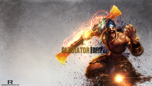 LoL -Gladiator Draven Wallpaper by xRazerxD
