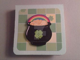 St. Patrick's Day post it note holder by SeasonablyCute