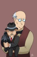 Scarface and the Ventriloquist on the loose by phil-cho