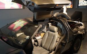 Inside the DeLorean Back To The Future by Lunapic