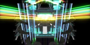 Neon wire mesh stage by chocosunday