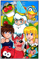 Mega Man - 30th Anniversary by Nico--Neko