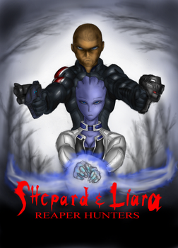 Shepard and Liara (Hansel and Gretel 2013 style) by Lel0uch