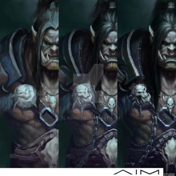 Grommash Hellscream Progress by XL-Kong