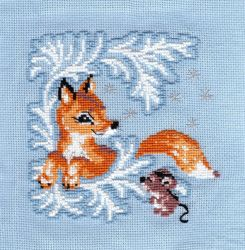 Fox and mouse by Thriin