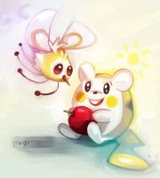 Cutiefly and Togedemaru