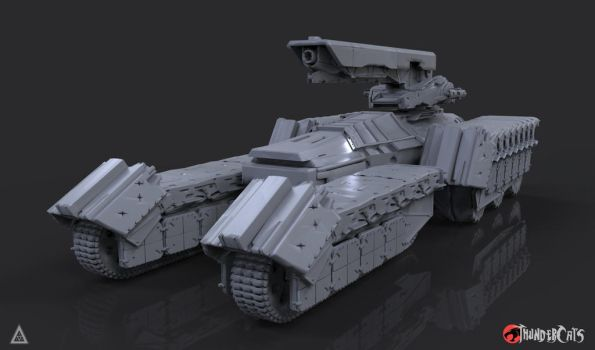 Thunder-Tank (Clay Render) by Rodrigo-Sanches-A