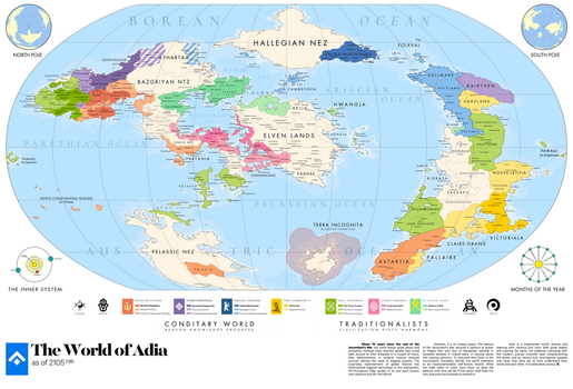 adia | Great Map of the World by rajavlitra