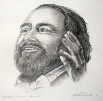 The Great Luciano Pavarotti by Schnellart