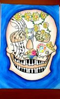 My skull design. by CamilaKL
