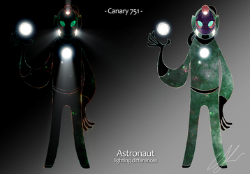 Canary 751 astronaut lighting differences by jaunty-eyepatch