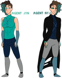 Agent Jyn and Nyj redesigns by lilmely