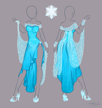 Frozen Elsa - new dress by Tatara94