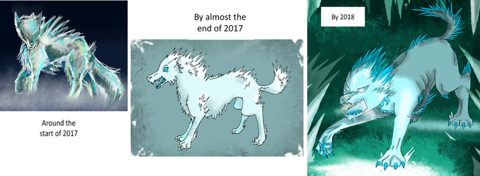 The evolution of the ice creature by Redwingsparrow