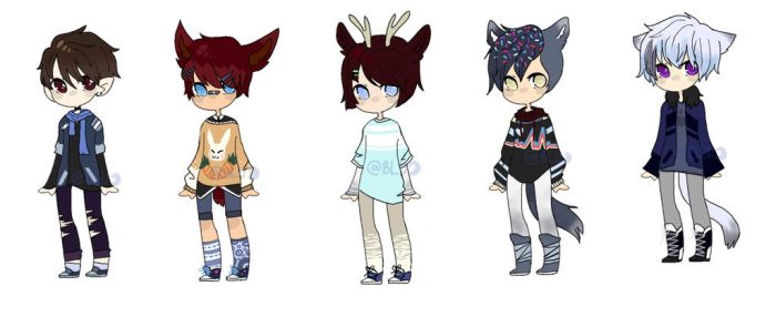 OTA Humanoid Adopts - OPEN ( 5/5) by LilLuluna