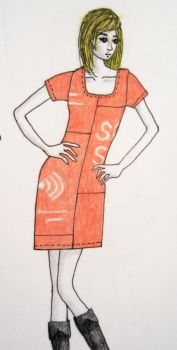 Solid Sound Staff Shirt Dress Sketch by Criddlebee
