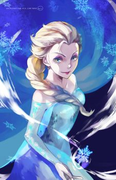Frozen:  Queen Elsa by OXMiruku