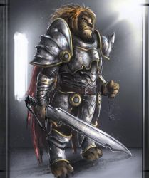 Unrealistic Armor Wearing Lion Dude by SprinKah
