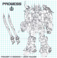 Robo-Synergy - Prowlers - Prowess - Line Art by JP-V