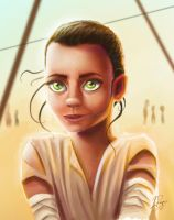 Rey The Force Awakens by LaurenceAndrewPage
