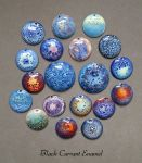 Vitreous Enamel - crackle collection by blackcurrantjewelry