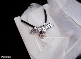 'Little Dragon', handmade sterling silver pendant by seralune