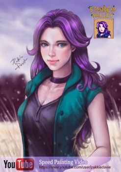 Abigail from Stardew Valley by davidmccartney