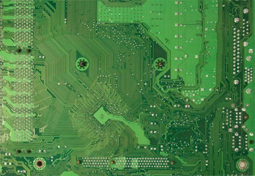 Green Motherboard Circuit Tech by TextureCity