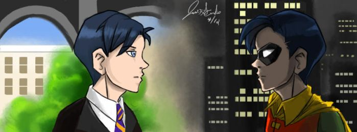 Two Sides: Richard Grayson by ll-Wolfie-ll