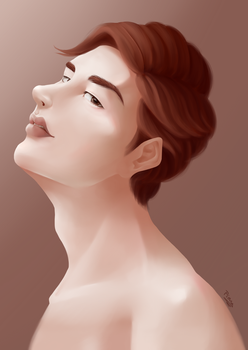 Male Portrait by Hunnypuzzle