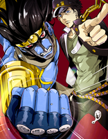 Jotaro and Star platinum by Som66