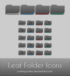 Leaf Folder Icons by Untergunter