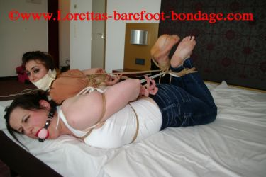 Hogtie and BareFoot Girlfriends by Loretta82
