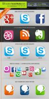 53 Social Media Icons - Creative edition by survivorcz