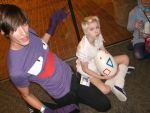 Haunter and Togepi Otakon 2010 by morgoththeone