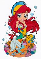 Ariel Dressed As Flounder Colored by Maiko-Girl