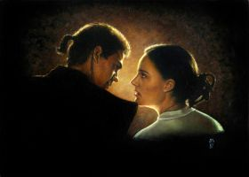 Padme and Anakin by Melanarus