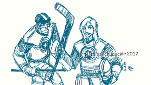 Hockey Buck and Steph by UchinanchuDuckie