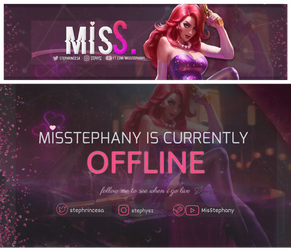 twitch banner and offline screen by MisStephany