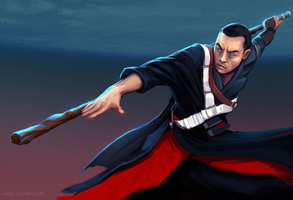 Donnie Yen Chirrut Imwe Star Wars Rouge One by Noe-Leyva